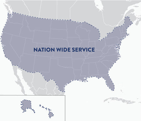 Nation Wide Service Map